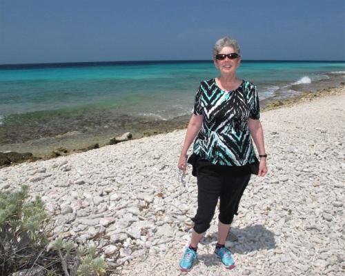 Diane on beach